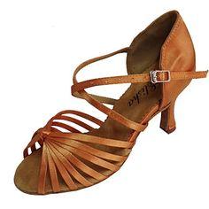 latin tilpasses kvinders sandaler satin dansesko (flere farver) – DKK kr. 226