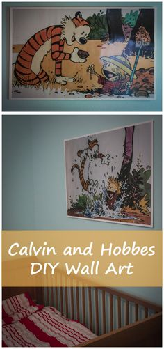 Calvin and Hobbes wall art