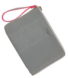 Paul's Boutique Mini Fleur clutch bag in Grey Snake. Online now || www.paulsboutique... x