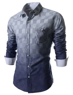 The Hound Tooth Check Pattern Dress Shirt