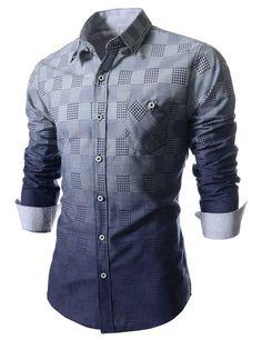 The Hound Tooth Check Pattern Dress Shirt
