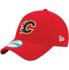 66472dc79f8 New Era Men s Calgary Flames 9FORTY Red Adjustable Hat