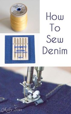 Tips to Sew Denim - Melly Sews. Not exactly a simple material to work with.#affiliate