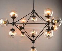 338.00$  Buy now - http://ali1ym.worldwells.pw/go.php?t=32352899595 - Modern Magic bean DNA Molecules Chandelier Pendant Lamp Dna Lamp Modern Glass Ball Lamps With 10 Bulbs 338.00$