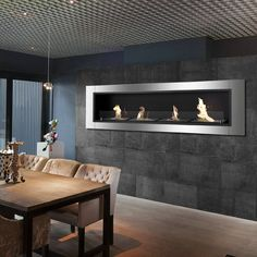 Free Shipping and No Sales Tax on the Ignis Accalia Bio Ethanol Recessed Wall Fireplace on Ethanol Fireplace Pros.