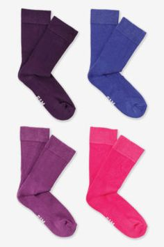 Bamboo Socks - Actives - Purples - 4 Pairs