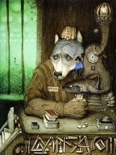 Alice and urban wolf  by Cyril Chelushkin