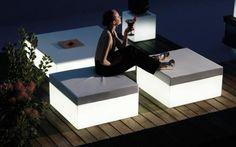 Vondom Quadrat Puf Hocker 80x80 cm Design Garten