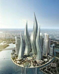 Squiggly Towers, Dubai.