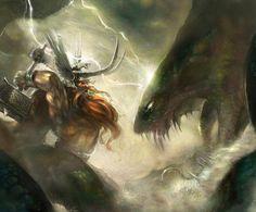 Jörmungandr vs Thor