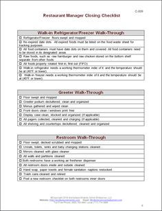 outline to a restaurant business   Outline of duties waiter ...