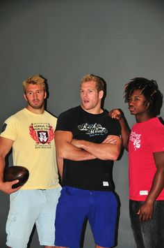 Chris Robsaw, James Haskell and Marland Yarde pictured striking their best pose. Models or rugby players?