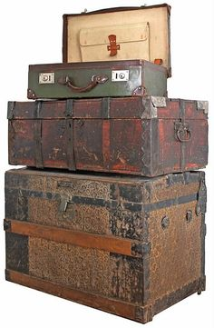 I now have a military trunk from 1946, the size and shape of the middle trunk shown, that I'm trying to fix up for a storage area in my living room.