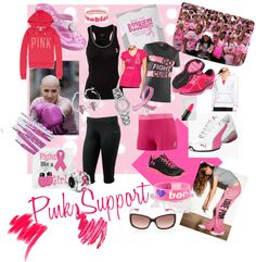 """""""Pink Support"""" by i-am-kater-tot on Polyvore"""