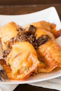 Easy shredded beef enchiladas ohsweetbasil.com