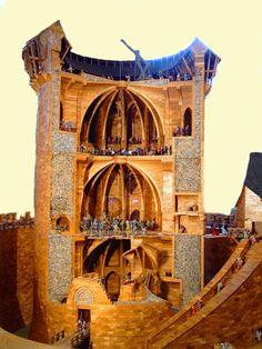 donjon coucy | Grundfläche des Modells: 6 x 6 m