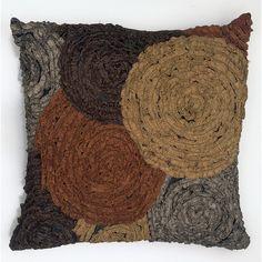 gray and brown throw pillows | Avacha Pillow Brown gray, brown, tan