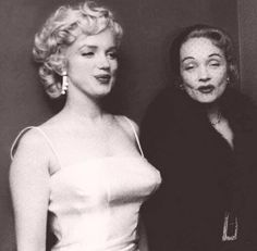 Marilyn Monroe and Marlene Dietrich