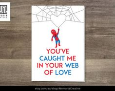 I Love You Card - SpiderMan Card - Customisable Occasion Title - Happy Birthday - Happy Anniversary happybirthdayspiderman Birthday Cards For Boyfriend, Birthday Cards For Men, Diy Birthday, Happy Birthday, Birthday Cakes, Diy Gifts For Him, Diy For Men, Spiderman Cards, Birthday Wishes Messages