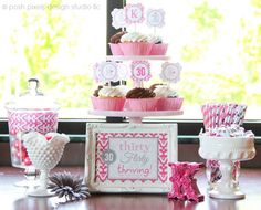 Preppy Thirty, Flirty, & Thriving birthday party! :: via MakeLifeCute.com