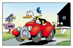 Donald in his car. By William van Horn?