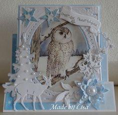 Voorbeeldkaart - Kerstuil - Categorie: Figuurkaarten - Hobbyjournaal uw hobby website