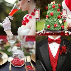 alice in wonderland wedding @Camille Blais Blais Bouchard !! I think this is even better than a beauty and the beast theme!