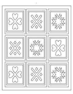 Quilt Patterns Coloring Page | Learn With Units: Coal/Quilts/FIAR |  Pinterest | Patterns, Quilt Design And School