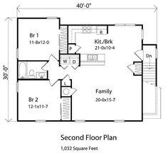 Garage Apartment Floor Plans 2 Bedroom house plan 44913 | garage plans, lofts and garage apartments