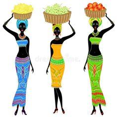 African Drawings, African Art Paintings, Beauty Illustration, Art Afro, Beautiful African Women, Afrique Art, Leda Muir, African Girl, Diy Canvas Art