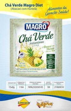 Chá Verde Abacaxi com Hortelã Magro Zero Açucar Display 15x8gr