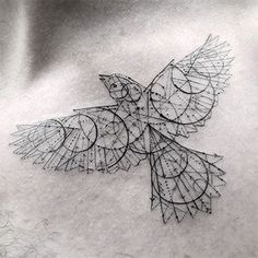 Elegant Fine Line Geometric Tattoos by Dr. Woo: