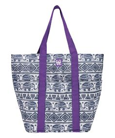 Look at this Purple Elephant in the Room Trio Tote on #zulily today!