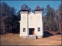 Christenberry says this church in Sprott, Ala., is one of the most beautiful pieces of vernacular architecture he has ever seen.