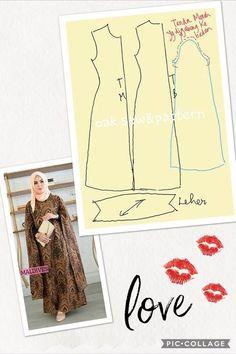 Diy Fashion Hijab, Batik Fashion, Abaya Fashion, Vestido Batik, Batik Dress, Long Dress Patterns, Batik Pattern, Abaya Pattern, Model Kebaya