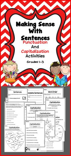 Language Arts Activities For Primary Grades  #Common Core Standards #Language Arts Activities