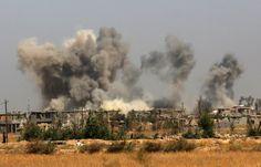 US-Luftangriff auf Falludscha: Ende Mai haben die irakische Armee und...