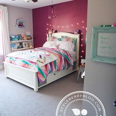 Our Chelsea Storage Bed, Blackout Drapes and Ikat Stripe Duvet look stunning. Preteen Girls Rooms, Preteen Bedroom, Teen Girl Bedrooms, Tween Girls Bedroom Ideas, 6 Year Old Girl Bedroom, Girls Bedroom Colors, Small Bedrooms, Cute Bedroom Ideas, Girl Bedroom Designs