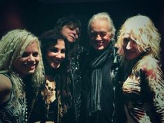Jimmy Page with LZ tribute band 'Lez Zeppelin'- 14 June 2013