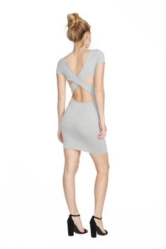 Heather Grey Cecily Dress. Clayton 2016 Resort Collection.