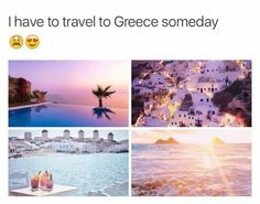 Greece photos have the loveliest soft color scheme Vacation Places, Dream Vacations, Vacation Spots, Beautiful Places To Travel, Cool Places To Visit, Places To Go, Travel Aesthetic, Future Travel, Travel Goals
