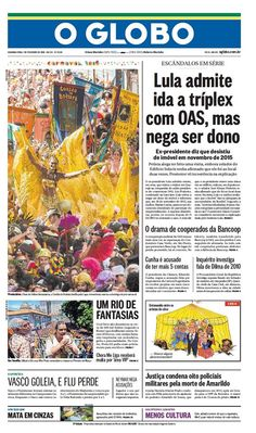 #20160201 #BRASIL #Brazil #LATINOAMERICA #RIOdeJANEIRO #OGLOBOjournalBRASIL Segunda 1 FEV 2016 http://www.oglobo.com.br/ .