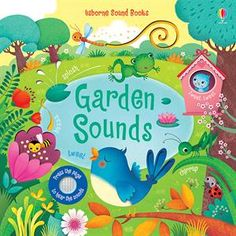 Love this sweet Usborne book filled with peaceful sounds of the garden. Press the sign on each page to hear these wonderful garden sounds and noises. The beautiful illustrations complement this beautiful first picture book for young children.