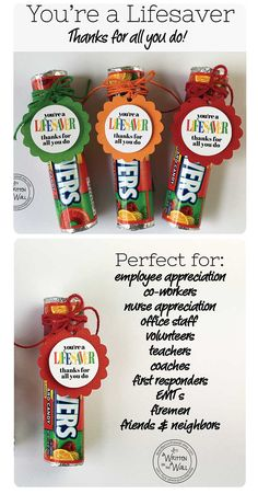appreciation gifts Its Written on the Wall: Youre a LIFESAVERThanks For All You Do! Employee Appreciation, Co-Worker Gifts and Volunteer Appreciation Gifts, Volunteer Gifts, Gifts For Volunteers, Lifesaver Candy, Staff Gifts, Teacher Gifts, Student Teacher, Teacher Morale, Employee Gifts