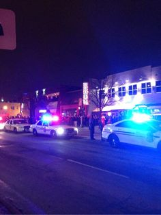 Columbus Police lined High Street in University District with gas masks. Photo credit: Daniel Bendtsen / Asst. arts editor