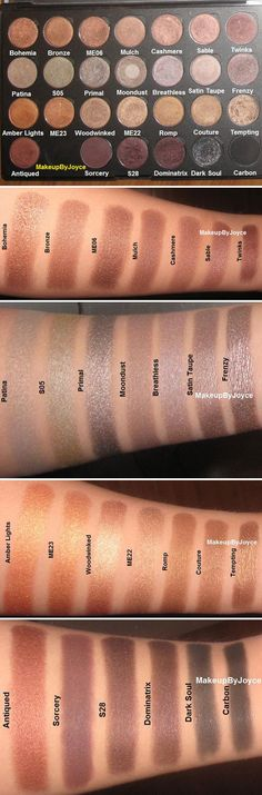 MAC EYESHADOWS :: Browns Palette :: Love Patina, S05, Moondust & Sable | #makeupbyjoyce #macshadows #maceyeshadows