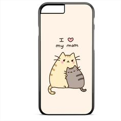 Pusheen The Cat I Love My Mom TATUM-9013 Apple Phonecase Cover For Iphone SE Case