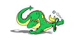 Digital Running Dragon Baby Boy Nursery Art by DigitalArtMovement