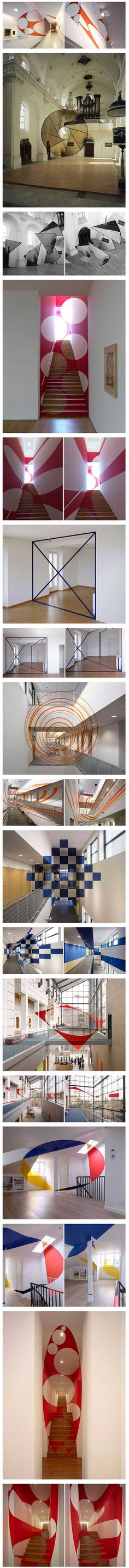 Redefining spaces with astounding anamorphic illusions.