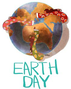 Earth Day is everyday: Be good to your planet #earthday  #posters  #poster  #illustration  #artist  #art  #artist  #globe
